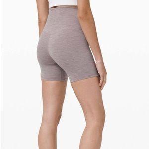 Lulu lemon Align Shorts Heathered Lunar Rock NWOT